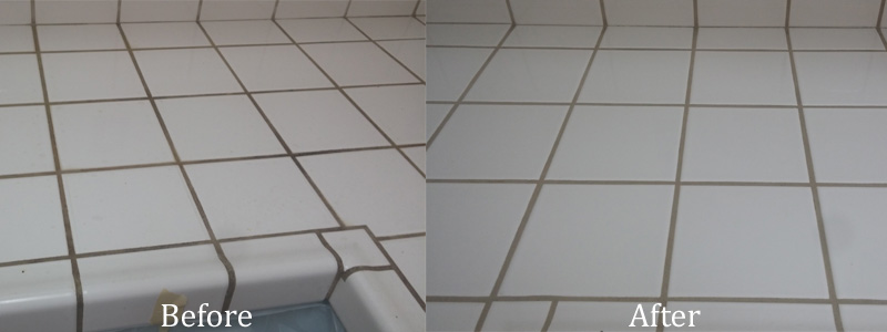 Tile Kitchen Counter Cleaning